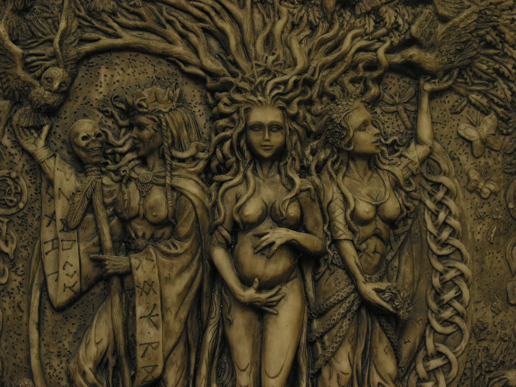 Triple Goddess plaque by Maxine Miller